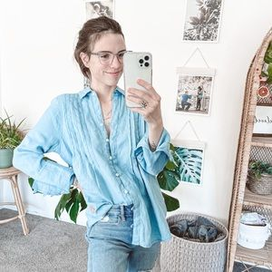 Free People Breezy Mornings Linen Shirt